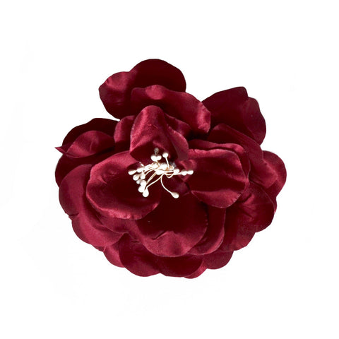 Millinery Flower - Artificial Silk Satin Large Rose (1pc)