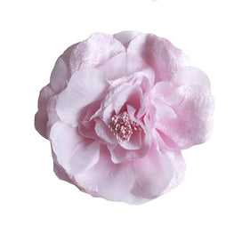 Millinery Flower - Artificial Silk Velvet & Satin Large Rose - Pink (1pc)