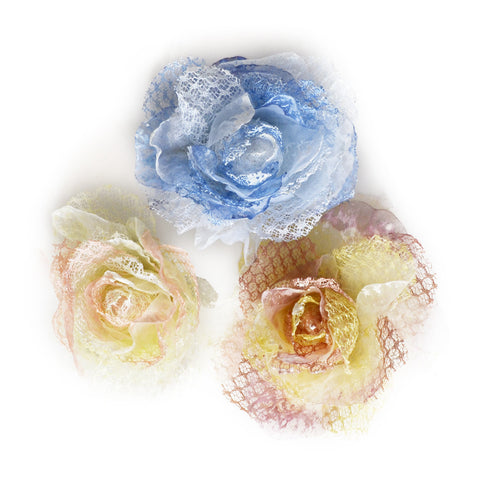 Millinery Flower - Mesh Rose Artificial Flower (1pc) Ask a question