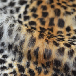 European Domestic Rabbit Fur Hide in Cheetah Pattern - Single Pelt
