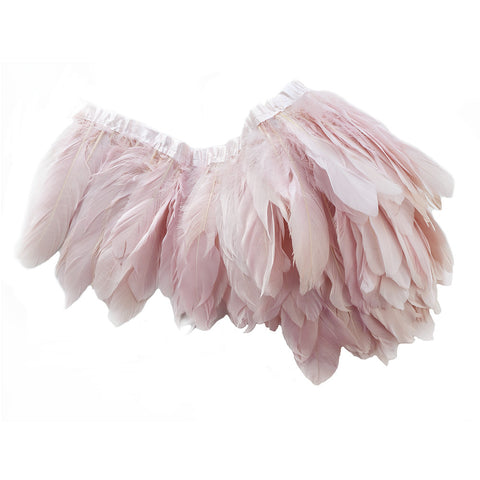 "Goose Nagorie Feather Trim - Baby Pink (5""-7"")"