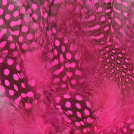 24pcs Guinea Feathers in Pink (1-4 inches)