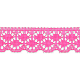 "0.8"" Vintage Scalloped Lace - Hot Pink"