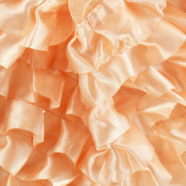 "6"" Satin Ruffle Trim in Peach (6 rows)"