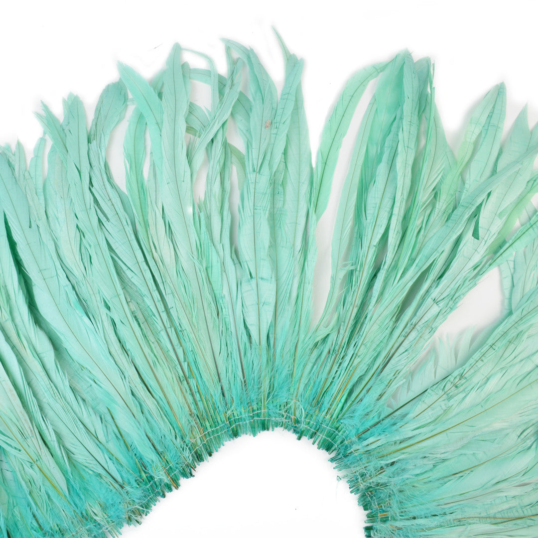 Rooster Tail Feathers in Mermaid Aqua (10-12 inches)