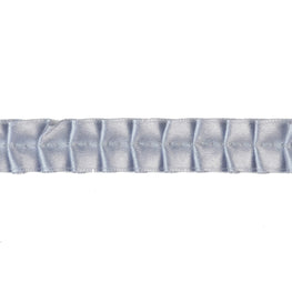 "0.6"" Satin Ribbon Pleated Trim in Grey"