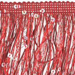 "4"" Hologram Sequins Fringe - Red"