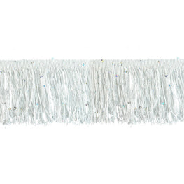 "4"" Hologram Sequins Fringe - White"