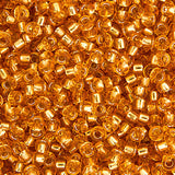 20g Miyuki® Japanese Round Rocailles Glass Seed Beads - Dark Gold Silver Lined - 11/0 (#0004)