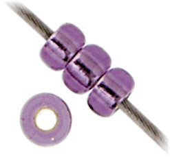 20g Miyuki® Japanese Round Rocailles Glass Seed Beads - Amethyst Silver Lined - 6/0, 8/0, 11/0, 15/0 (#0024)