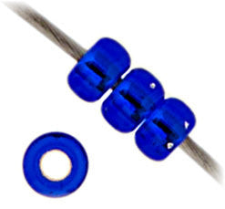 20g Miyuki® Japanese Round Rocailles Glass Seed Beads - Cobalt Silver Lined - 6/0, 8/0, 11/0, 15/0 (#0020)