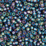 20g Miyuki® Japanese Round Rocailles Glass Seed Beads - Grey Silver Lined AB - 11/0 (MR164)
