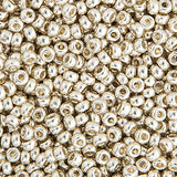 20g Miyuki® Japanese Round Rocailles Glass Seed Beads - Silver Galvanized - 6/0, 8/0, 11/0, 15/0 (#1051)