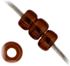20g Miyuki® Japanese Round Rocailles Glass Seed Beads - Chocolate Brown Transparent - 11/0 (#0135)