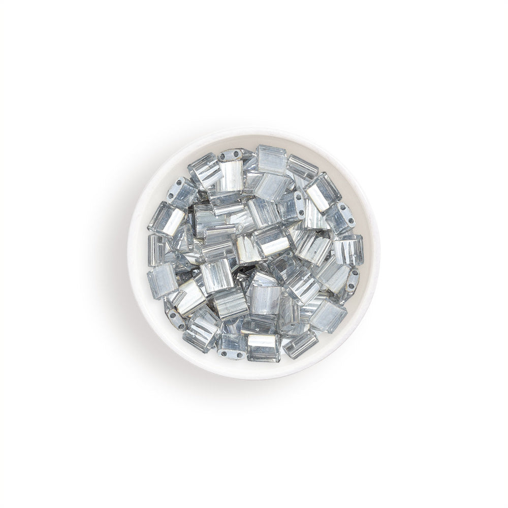 10g Miyuki Tila Beads Square Twin Hole - Crystal Transparent (5x5x1.9mm) (TL1881)