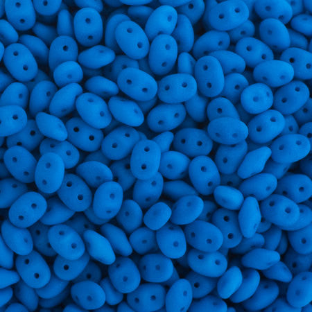 20g Czech SuperDuo Seed Beads - Neon Blue (5x2.5mm) (SD078)