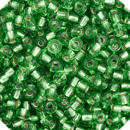20g Preciosa Czech Rocaille Glass Seed Beads - Lime Green SL - 11/0 (CZ11-34980)