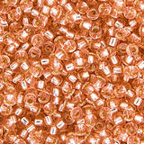 20g Miyuki® Japanese Round Rocailles Glass Seed Beads - Pink Mist Silver Lined - 11/0 (#0023)