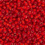 20g Miyuki® Japanese Round Rocailles Glass Seed Beads - Flame Red Silver Lined - 6/0, 8/0, 11/0, 15/0 (#0010)