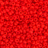 20g Miyuki® Japanese Round Rocailles Glass Seed Beads - Red Vermillion Opaque - 6/0, 8/0, 11/0, 15/0 (#0407)