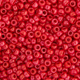 20g Miyuki® Japanese Round Rocailles Glass Seed Beads - Red Opaque Luster - 11/0 (#0426)