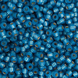 20g Miyuki® Japanese Round Rocailles Glass Seed Beads - Denim Blue Silver Lined Dyed Alabaster - 6/0, 8/0, 11/0, 15/0 (#0648)