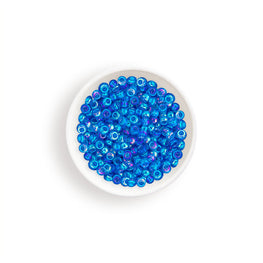 20g Miyuki® Japanese Round Rocailles Glass Seed Beads - Blue Azure Transparent AB - 11/0 (#0261)