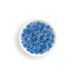 10g Miyuki Tila Beads Square Twin Hole - Capri Blue Transparent AB Matte (5x5x1.9mm) (TL149FR)