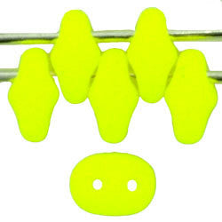 20g Czech SuperDuo Seed Beads - Neon Yellow (5x2.5mm) (SD085)