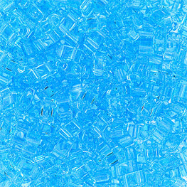 10g Miyuki Half Tila Beads Rectangle Two Hole - Aquamarine Transparent (5x2.3x1.9mm) (HTL0148)