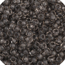 20g Preciosa Czech Rocaille Glass Seed Beads - Black Diamond TR Dyed - 11/0 (CZ11-40013)