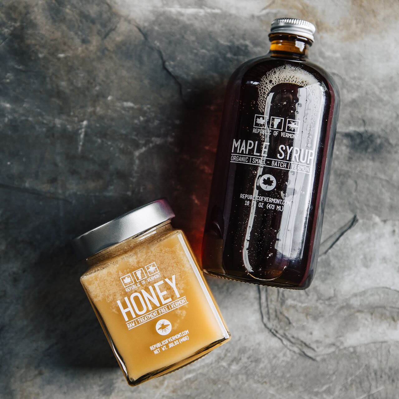 Raw Honey & Organic Maple Syrup