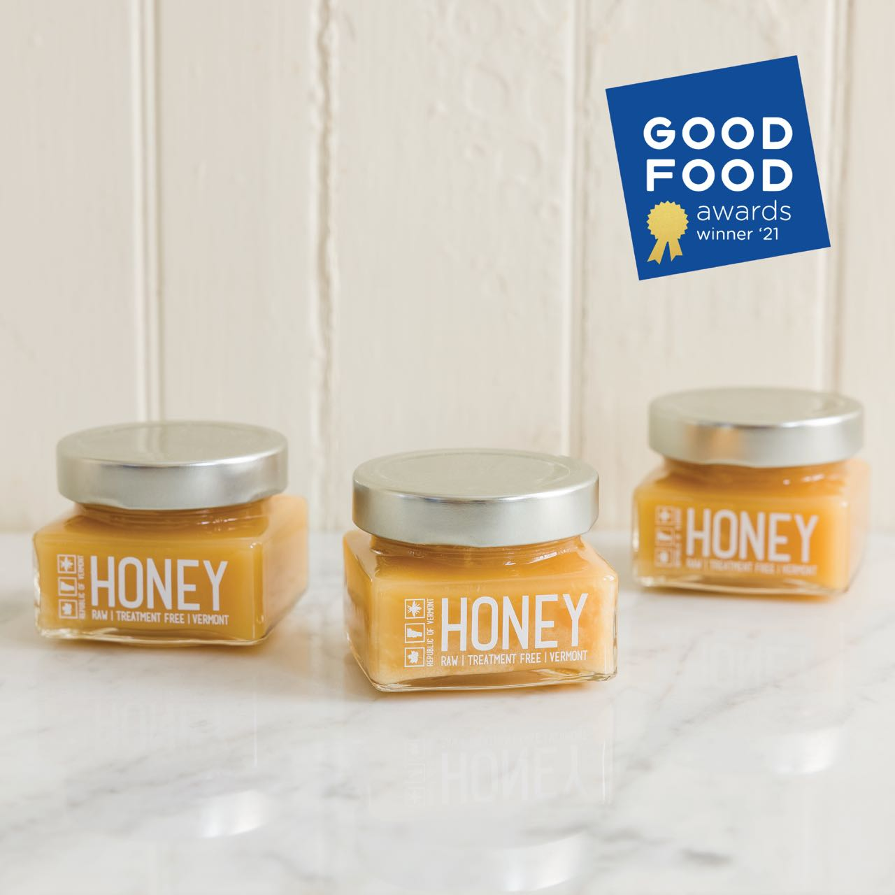 Raw Honey (Three 1/2 lb Jars)