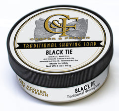 Black Tie Shaving Soap, Cooper and French