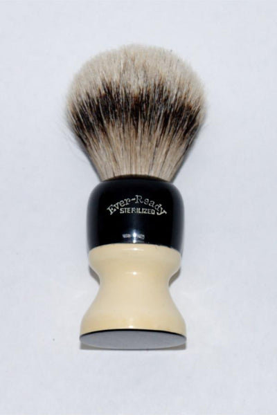 Restored Vintage Ever-Ready 836A Shaving Brush (Silvertip Badger)