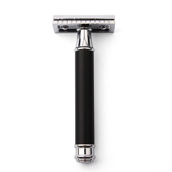 CF02 Black & Silver Classic Double Edge Safety Razor