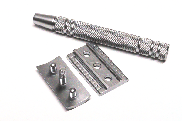 CF01 Silver Classic Double Edge Safety Razor - Cooper & French