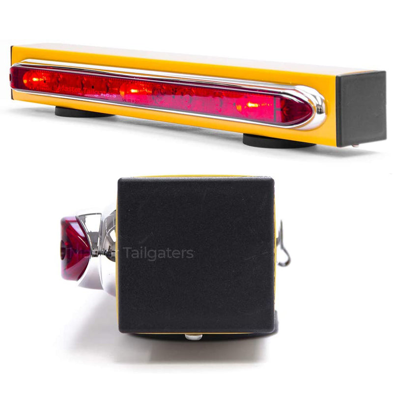 "Wireless Trailer Tow Light Bar 19""- Magnetic Mount - Ultra Bright LED with 4 pin Hitch Transmitter"