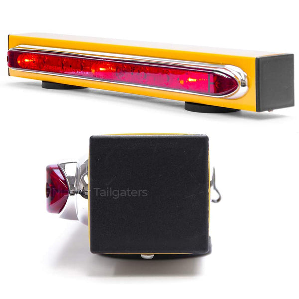 "Wireless Trailer Tow Light Bar 19""- Magnetic Mount - Ultra Bright LED with 4 Pin Round Hitch Transmitter"