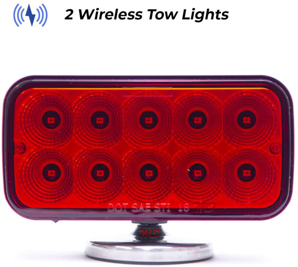 Wireless Tow Hitch Lights - Magnetic, Rechargeable Trailer LED Lights