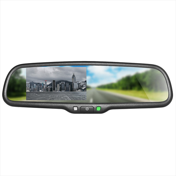 "Master Tailgaters Rear View Mirror with 4.3"" Auto Adjusting Brightness LCD"