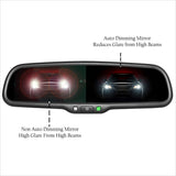 "Master Tailgaters Auto Dimming Mirror with 4.3"" Auto Adjusting Brightness LCD - Master Tailgaters"