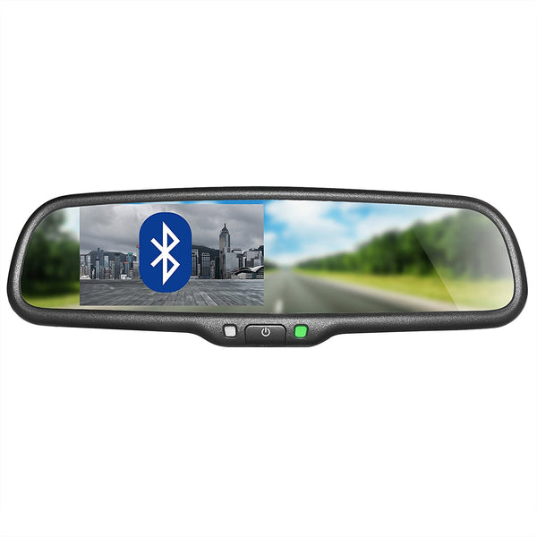 "Master Tailgaters OEM Rear View Mirror with 4.3"" Auto Bright LCD and Bluetooth"