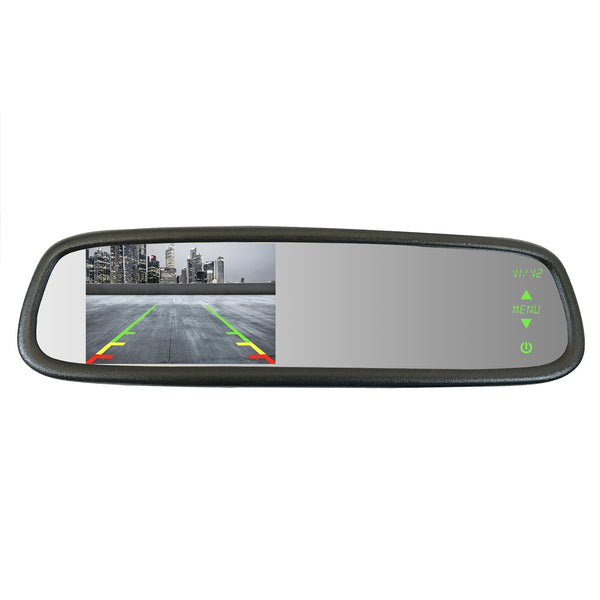 "Master Tailgaters Sleek Rear View Mirror with Ultra Bright 4.3"" Auto Adjusting Brightness LCD - Universal Fit - Master Tailgaters"
