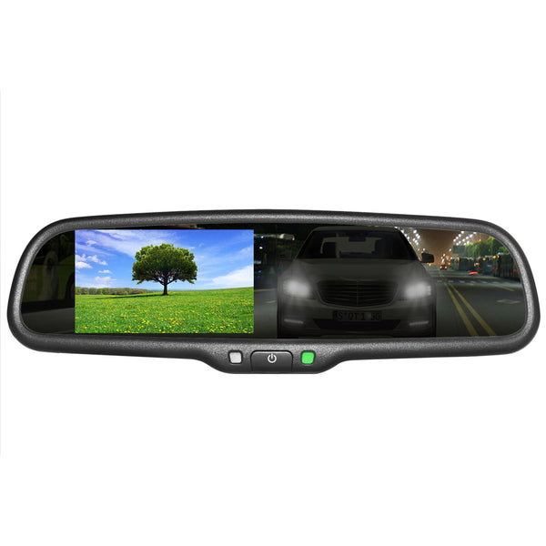 "Master Tailgaters Auto Dimming Mirror with 4.3"" Auto Adjusting Brightness LCD"