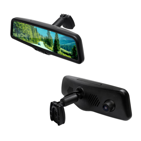 "Master Tailgaters 10"" IPS LCD Rear View Mirror with 1080p DVR 140° Built-in Dash Cam, Superior Night Mode, G-Sensor, Parking Mode, Wi-Fi Mobile Playback + 1080p Backup Camera"