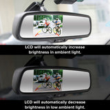 "Compass & Temperature Rear View Mirror with 4.3"" Auto Adjusting Brightness LCD"