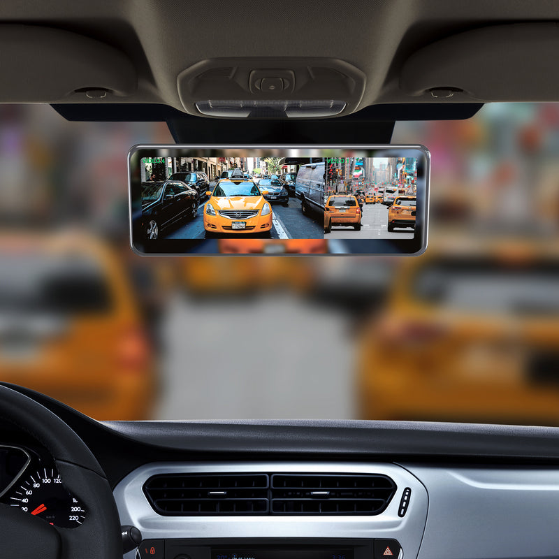 "Master Tailgaters Frameless Rear View Mirror with 7"" LCD Display and 4 Video Inputs - For Multi Camera Setups + Two Free Side Cameras"