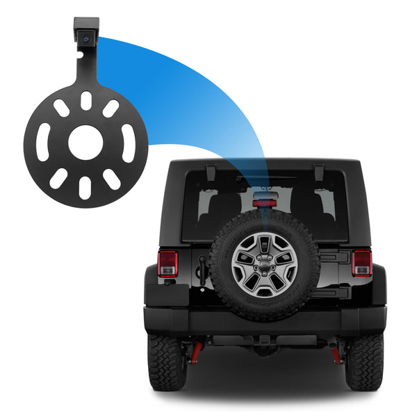 Jeep Wrangler Spare Tire Mount with Backup Camera