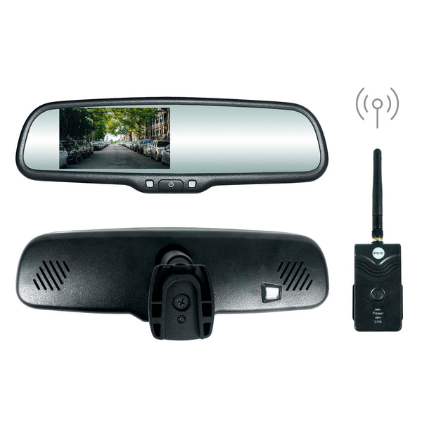 "Master Tailgaters OEM Rear View Mirror with 4.3"" High Brightness LCD & Wireless Transmitter - Universal Fit"